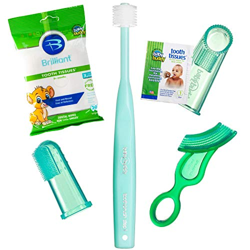 Brilliant Infant Oral Care Set by Baby Buddy, Green ()