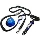 Pet Fit For Life Premium Hands Free Dog Leash For Running or Walking - All Purpose Dog Leash Bonus Soft Foam Rubber Handle - Reflective Dog Leash - Medium to Large Dogs (Certified Refurbished)
