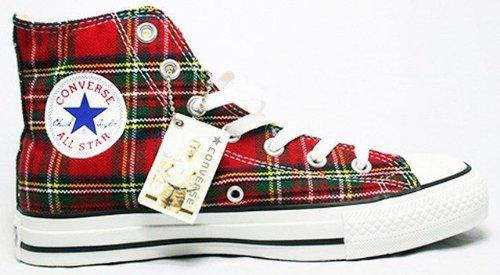 Converse All Star scozzese Ska Chuck Red/Tartan Hi 1q455misura 42,5(UK: 9)