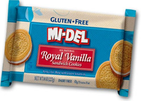 Mi-Del Gluten Free Cookies, Royal Vanilla Sandwich, 8 Ounce