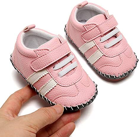 51yplAO0 JL. AC - SOFMUO Baby Girls Boys Pu Leather Sneakers Anti-Slip Rubber Sole Cartoon Moccasins Handmade Newborn Slippers Hard Bottom Toddler First Walkers Infant Crib Shoes