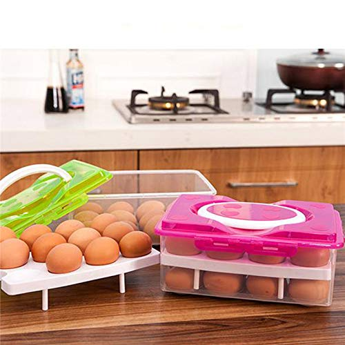 Jars & Boxes - Egg Box 24 Grid Food Container Organizer Boxes Layer Multifunctional Crisper - Jars Boxes Bottles Jars Boxes Gift Snack Movie Container Storage Rectangular Plastic Chicken Hatcher ()