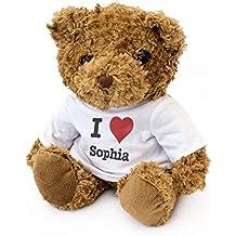 NEW - I LOVE SOPHIA - Teddy Bear - Cute And Cuddly - Gift Present Birthday Xmas Valentine