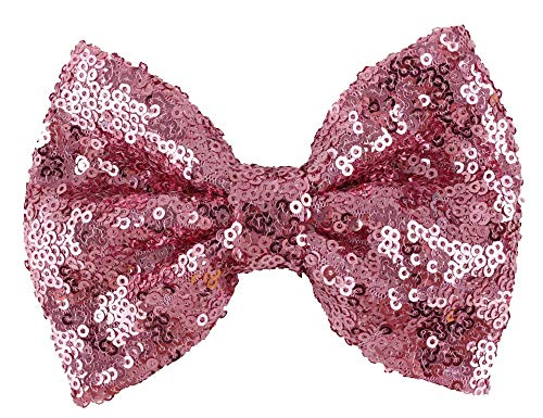 (Love Fairy Fashion Bow Hairpin Sequins Hair Clip Multicolor 0ptional for Baby Girls Toddler Kids and Women (Pink))