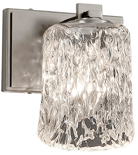 - Justice Design Group Lighting GLA-8441-16-CLRT-NCKL Veneto Luce Era 1-Light Wall Sconce, Brushed Nickel