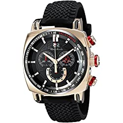 Ritmo Mundo Men's 2221/10 RG Red Racer Analog Display Swiss Quartz Black Watch