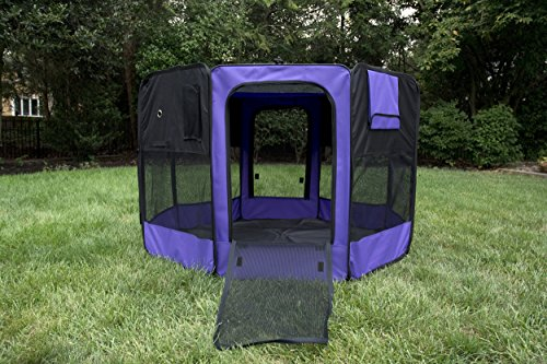 Iconic Pet Portable Pet Soft Play Pen, Purple, Small by Iconic Pet (Image #7)