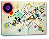 """This 18"""" x 24"""" premium giclee canvas art print of Composition VIII by Wassily Kandinskyis created on the finest quality artist-grade canvas, utilizing premier fade-resistant archival inks that ensure vibrant lasting colors for years to come. Every d..."""