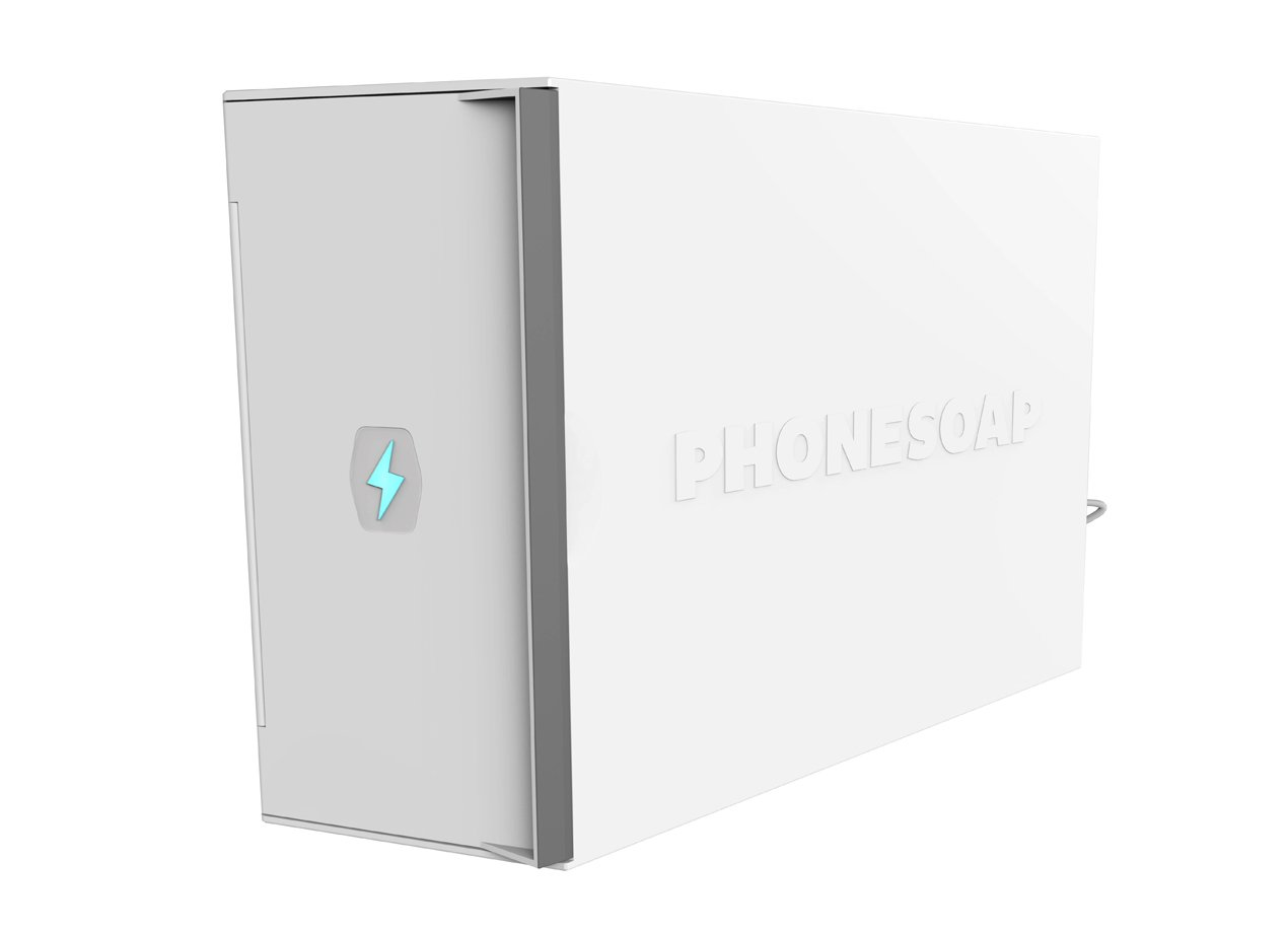 White Fits All Phones and Tablets Up to 12.4 x 3 x 9.75 PhoneSoap XL UV Sanitizer and Universal Phone and Tablet Charger