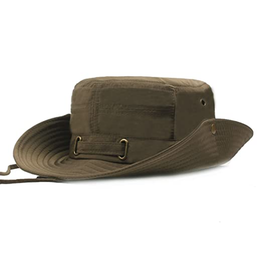 4c9a941a2224a King Star Men Fishing Sun Boonie Hat Summer UV Protection Cap Outdoor  Hunting Hats Army Green
