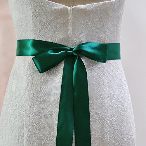 Perlant Des Femmes Azalées Ceintures De Châssis Nuptiale Ceintures De Ceinture De Mariage Pour Robe De Mariée Vert Foncé