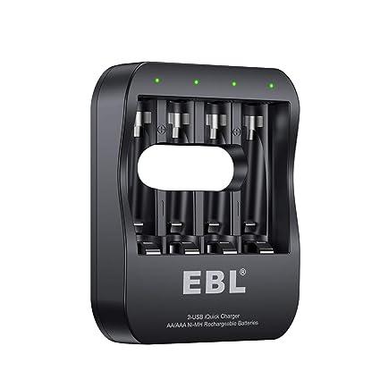 Amazon.com: EBL 2-USB iquick individuales Cargador para ...