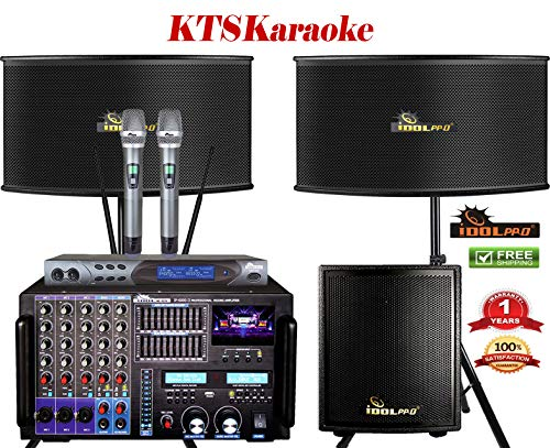 PACKAGE IDOLpro 8000W Professional Karaoke Mixing Amplifier W/Bluetooth, HDMI, Recording, Equalizer Plus 12