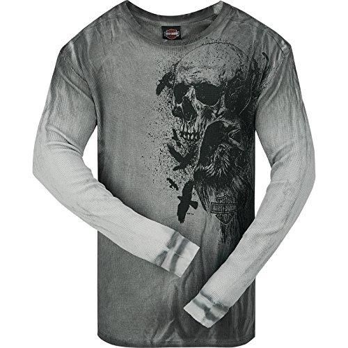 Harley-Davidson Long-Sleeve Thermal Shirt – Crow Skull | Camp Leatherneck