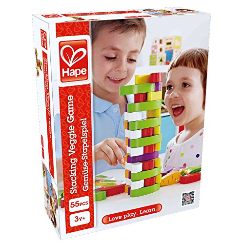Award Winning Hape Stacking Veggies Kid's Wooden Skill Learning Game by Hape (Image #6)