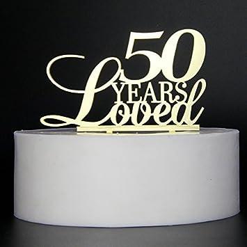 Oro 50 años amado para brillantes pasteles de letras para ...