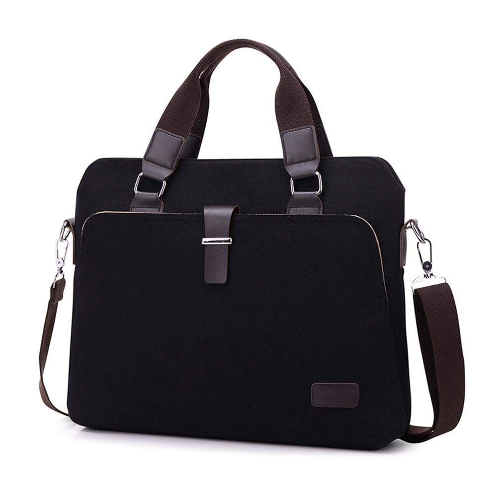 Lianai11 Laptoptasche Herren Geschäft Tote Bag Laptoptasche Aktentasche Herren Büro Tasche Canvas Schulter Messenger Bag Griff