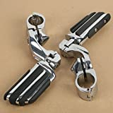 XFMT Footrest Motorcycles Short Highway Foot Pegs For Harley Electra Road King Street Glide 1-1/4''or 32mm Bar