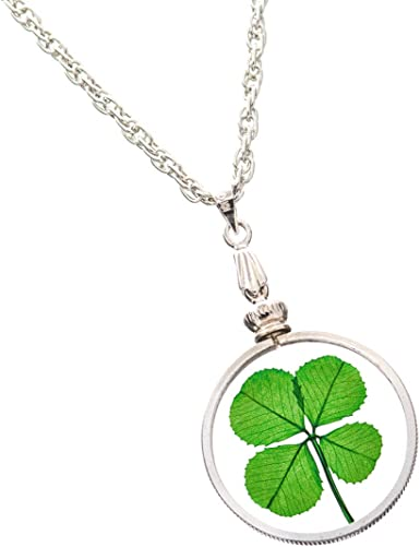 Good Luck Pendant Lucky Clover Necklace 18K Gold Plated 4 Leaf Clover Pendant Necklace Gold Clover Jewelry
