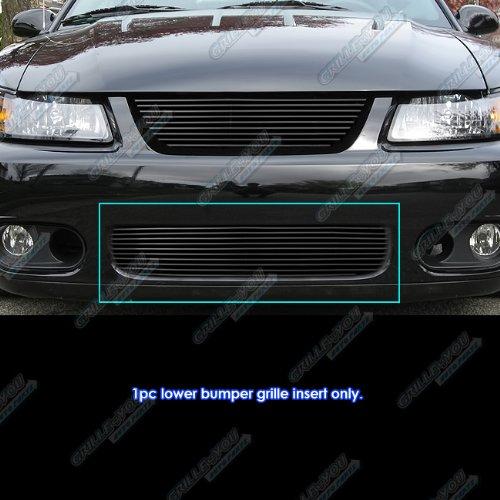 APS Compatible with 2003-2004 Ford Mustang SVT Cobra Black Bumper Billet Grille Insert N19-H92066F