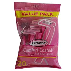 Comfort Coated Twin Blade Razors For Women - 10 pc, (Pack of 2)