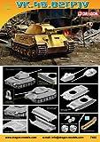 Dragon Models VK.45.02(P)V Armor Pro Series Tank Model Building Kit, 1:72 Scale