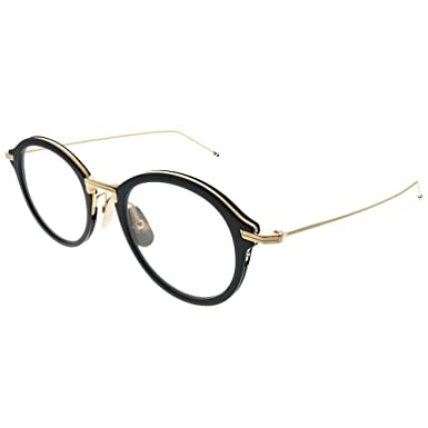 2dcdf77bd28 Image Unavailable. Image not available for. Color  Thom Browne TBX908 49-01  Black White Gold Plastic Round Eyeglasses 49mm