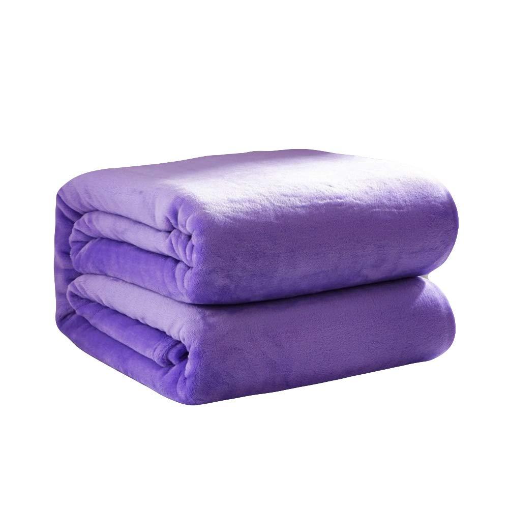 単色 スーパーソフト フランネル毛布, ぬいぐるみ 暖かい 低 毛布 ソファ 軽量 高級 掛布-G 200x230cm(79x91inch) B07JDPRNHT G 200x230cm(79x91inch)