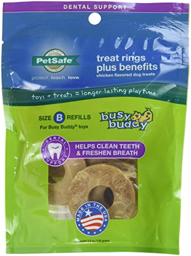 petsafe-size-b-dog-treat-ring-refills-for-busy-buddy-toys-with-dental-health-formula-medium