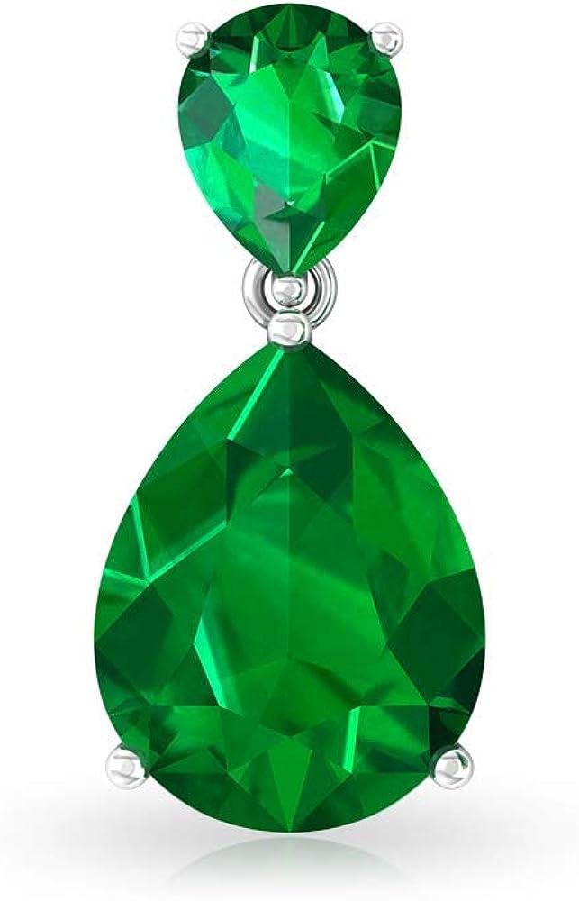 Pendientes de esmeralda en forma de pera, con piedras de nacimiento, pendientes colgantes de lágrima, pendientes de boda, regalo de San Valentín, tornillo hacia atrás