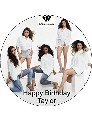 7.5 Fifth Harmony 5th Personalised Edible Icing Birthday Cake Topper by (Fifth Harmony Birthdays)