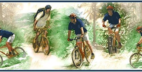 Sanitas CK062142B - Papel pintado, diseño de bicicleta de montaña, color azul: Amazon.es: Bricolaje y herramientas
