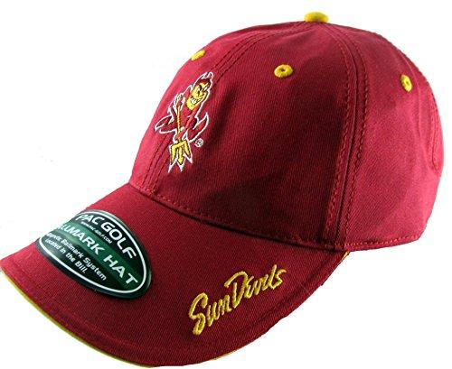 (PAC Golf Hat Cap with Magnetized Ballmark Ball Marker Arizona State Sun Devils)