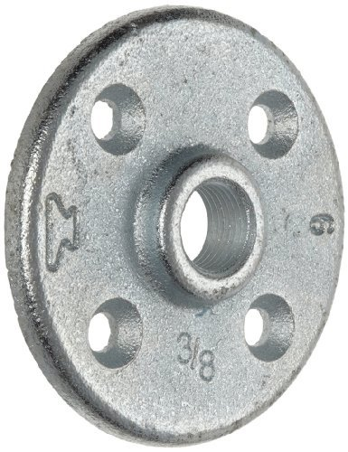 Anvil 8700164356, Malleable Iron Pipe Fitting, Floor Flange, 1 NPT Female, Galvanized Finish by Anvil International