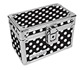 Vaultz Locking 3 x 5 Index Card Box, Black and