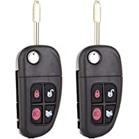 Scitoo 2Replacement Keyless Remote Flip Car Key Fob for select Jaguar NHVWB1U241