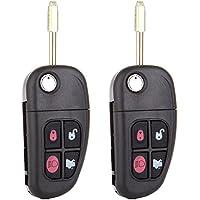 Keyless Entry Remote for Jaguar,ECCPP 2X Replacement Keyless Remote Flip Car Key Fob for select Jaguar NHVWB1U241
