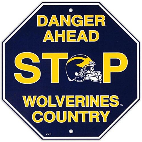 "Fremont Die NCAA Michigan Wolverines Stop Sign, 12"""