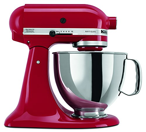 KitchenAid RRK150ER  5 Qt. Artisan Series - Empire Red (Renewed) (Best Bread Recipe For Kitchenaid Mixer)