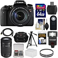 Canon EOS Rebel T6s Wi-Fi Digital SLR Camera & EF-S 18-135mm & 55-250mm IS STM Lens with 64GB Card + Case + Filters + Tripod + Flash + Kit Key Pieces Review Image