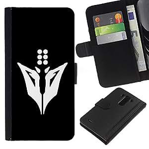 LECELL--Cuero de la tarjeta la carpeta del tirón Smartphone Slots Protección Holder For LG G3 -- Minimalista Animal --