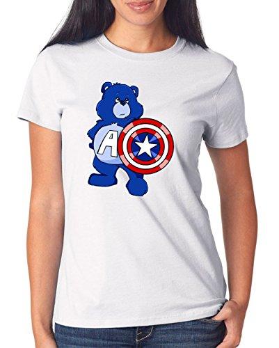 Captain Bear T-Shirt Girls White Certified Freak