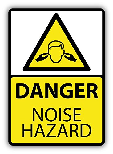 Danger Noise Hazard Ears Protection Warning Sign Car Bumper Sticker