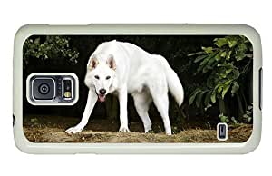 Hipster Samsung Galaxy S5 Case silicone cover northern inuit dog PC White for Samsung S5