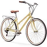 Cheap sixthreezero Explore Your Range Women's 7-Speed Hybrid Commuter Bicycle, Cream, 17″ Frame/700x38c Wheels