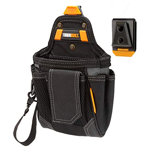 ToughBuilt - Warehouse Tool Pouch | 9 Pockets and Loops, Covered Cell Phone Holder, Tape Measure Clip, Notebook Holster, Premium Multi-Tool Organizer (Patented ClipTech Hub & Belts) - On Loop Tape Books The