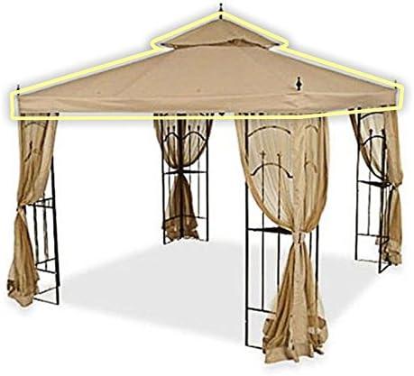 Amazon Com Open Box Replacement Canopy Top Cover For Home Depot S Arrow Gazebo Riplock 500 Beige Garden Outdoor