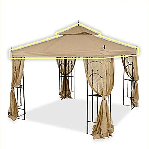 OPEN BOX Replacement Canopy Top Cover for Home Depot's Arrow Gazebo - RipLock 500 - Beige