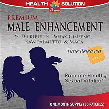 Premium Male Enhancement Patches. Promotes Sexual Vitality. Tribulus  Terrestris, Ginseng Root, Macca