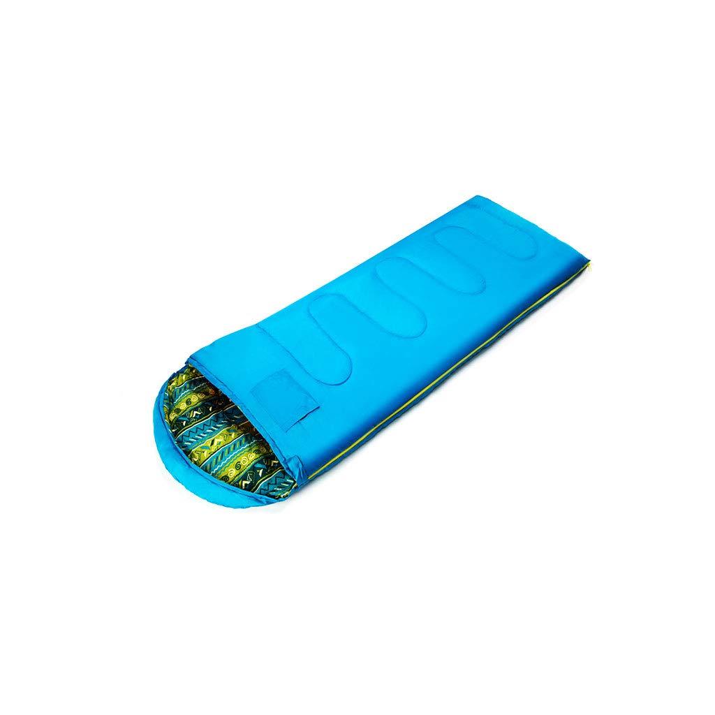 Kaiyu Forniture da campeggio all'aperto Sacco a pelo portatile da viaggio Sacchetto caldo per campeggio Sacco per dormire sporco 220x75cm (Colore   blu)